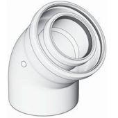 Odkouření kondenzační Brilon 52100007 - koleno koaxiální, DN100/60 x 43,5°