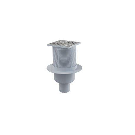 ALCAPLAST APV2 podlahová vpusť 105x105/50 přímá nerez